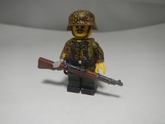 44DOT SS Camo prototype (krutoclassnie raboty) Tags: 44dot lego custom nazi german ss brickarms camo 44 dot pea pattern