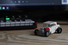 '32 (josiah wadley (undercoverwookiee)) Tags: 1932 32 ford coupe lego hot rod white flathead v8 3 window old school rat drag strip race car