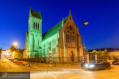 Dominican Church Drogheda (mythicalireland) Tags: church dominican building night blue hour twilight town cityscape streetscape architecture ecclesiastical christian catholic worship car headlights exposure
