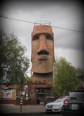 A bit of Easter Island in Arizona (jimsawthat) Tags: bar statue urban tucson arizona