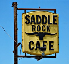 Saddle Up (pam's pics-) Tags: ks kansas us usa america midwest signs sign vintagesigns councilgrovekansas pamspics pammorris vintagesign saddlerockcafe cafe food dining plastiformsign diner diverestaurant plasticsign sonya6000 sony breakfast lunch dinner
