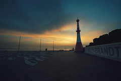how much is the fish (christian mu) Tags: architecture urban germany bremerhaven lighthouse leuchtturm sunset christianmu spring sony sonya7riii sonya7rm3 voigtländer1545 voigtländer 15mm 1545