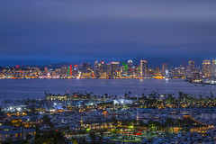San Diego Skyline (croman653) Tags: green san diego california southern point loma view landscape sunset downtown skyline dusk