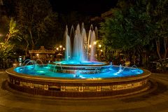Blue fountain (JKmedia) Tags: spain 2018 marbella night oldtown civilization longexposure fountain art water slow shutter circular round decorative boultonphotography explore