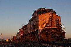 UP 7181 (CC 8039) Tags: up fxe trains ac44cw sd70ace sunset morrison illinois