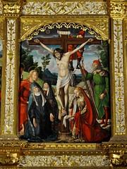 Astorga (León-España). Catedral. Retablo Hispanoflamenco, 1530. Maestro de Astorga. Crucifixión (santi abella) Tags: astorga león castillayleón españa catedraldeastorga retablos