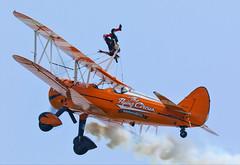 AeroSuperBatics Boeing Stearman (Steve G Wright) Tags: iwmduxford iwm flyingdisplay aircraft airshow airdisplay aviation biplane wingwalker boeing stearman aerobatic aerosuperbatics flyingcircus