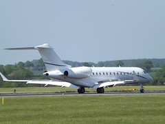 M-BIGG Bombardier Global 5000-BD-700 Harley Airlines Ltd (Aircaft @ Gloucestershire Airport By James) Tags: luton airport mbigg bombardier global 5000bd700 harley airlines ltd bizjet eggw james lloyds