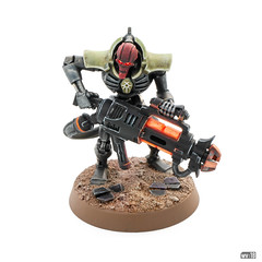 Forgebane Necron Immortal with Tesla Carbine
