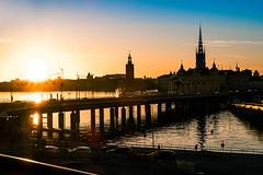 Stockholm (mikper) Tags: riddarholmskyrkan strömmen sunset vatten water stadshuset stockholm sverige skyline slussen centralbron schweden sweden stockholmslän se