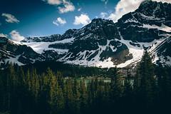 Crowfoot Mountain (Emin Cavalic) Tags: crowfoot mountain sunny clouds sky blue trees mountains alberta jasper banff happy digital water