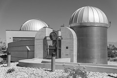 Rancho Mirage Observatory BnW (johngoucher) Tags: approved ranchomirage palmsprings coachellavalley california ranchomirageobservatory ranchomiragepubliclibrary observatory space outerspace sky stars architecture building design architectural buildingdesign facade entry blackandwhite bw bnw monochrome