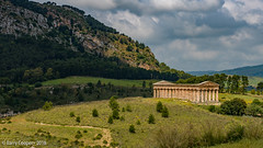 The unfinished Doric Temple at Segesta, Sicily (barrycooper242) Tags: red temple sicily ruins roman greek archaeology