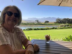 Ritsa at Breakfast (RobW_) Tags: ritsa breakfast view dam mountains bakery jordan wine estate stellenbosch western cape south africa monday 19mar2018 march 2018