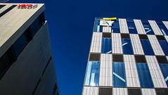 Reaching for the Sky (Jocey K) Tags: newzealand nikond750 christchurch building architecture rebuild logos detail design sky cbd