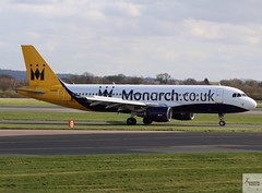 Monarch Airlines A320-214 G-OZBX taxiing at MAN/EGCC (AviationEagle32) Tags: manchester man manchesterairport manchesteravp manchesterairportatc manchesterairportt1 manchesterairportt2 manchesterairportt3 manchesterairportviewingpark egcc cheshire runway ringway ringwayairport runwayvisitorpark unitedkingdom runway23r uk airport aircraft airplanes apron aviation aeroplanes avp aviationphotography avgeek aviationlovers aviationgeek aeroplane airplane planespotting planes plane flying flickraviation flight vehicle tarmac monarch monarchairlines flymonarch airbus airbus320 a320 a320200 a322 a320214 gozbx
