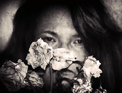 The bad and the ugly (Southern Darlin') Tags: me self selfportrait photography photo ugly bad blackandwhite bw bnw angry hate dirty dead roses flowers emotive
