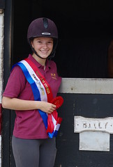 """My """"Not so little Abbey"""" winning her first jumping competition on her pony """"Billy"""" (favmark1) Tags: daughter winner win jump horseshow kent riding competition"""
