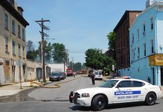City of Newburgh, New York  Alarm of Fire (Steve Rollo) Tags: police car ncpd nbny burgh streets