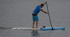 Paddle Boarding (Scott 97006) Tags: man guy paddle board water river paddling exercise