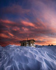 Fire and ice (Jay Daley) Tags: mountain mountkosciusko seamanshut hut snow winter adventure back country sunrise clouds wild explore landscapephotography