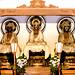 Three Buddha statues (Amida, Shaka and Miroku) in Main Hall of Jochiji Temple, Kamakura : 北鎌倉・浄智寺 曇華殿(仏殿)三世仏(阿弥陀・釈迦・弥勒)