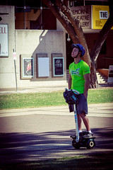 Seqway to sleep? (obLiterated) Tags: people brisbane southbank qpac segway eyesclosed enjoyingtheride