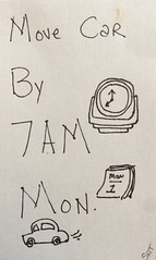 2018.04.29 Move the Car (Julia L. Kay) Tags: pen paper clock car calendar juliakay julialkay julia kay artist artista artiste künstler art kunst peinture dessin arte woman female sanfrancisco san francisco sketch dibujo daily everyday 365