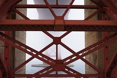 Golden Gate Bridge (shishirmishra1) Tags: bridge golden gate cali sanfrancisco travel foggy architecture building usa bay coast waterwater