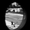 The man and his dog (pascalcolin1) Tags: paris13 homme man chien dog fenêtre window photoderue streetview urbanarte noiretblanc blackandwhite photopascalcolin passagepiéton crossroads 50mm canon50mm canon