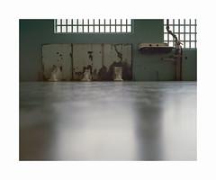 Alcatraz (ha*voc) Tags: mamiya7ii 65mm rangefinder film 120 mediumformat 6x7 kodakektar100 urban usa california alcatraz sanfrancisco empty silence abstraction