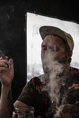 Cohiba (Juha Helosuo) Tags: barcelona catalonia spain cigar cohiba monte cristo smoke smoking tobacco portrait people boys travel beach canon eos 7d mark ii ef24105mm f4l is usm