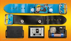 Dick Tracy, Integrated Circuit Wrist AM Radio, Circa 1975, Made in Japan by Creative Creations. (José Gustavo Sánchez González) Tags: josegustavo gustavo transistorradio circuitointegrado japan dicktracy wrist am radio novelty noveltyradios integratedcircuit