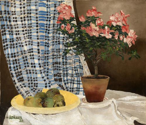 Александр Дейнека «Азалии и яблоки», 1937 г.
