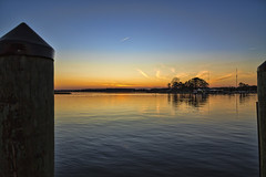 Kent Island Marina  December Sunset (stevebfotos) Tags: chesapeake kent narrows sunset sky topaz