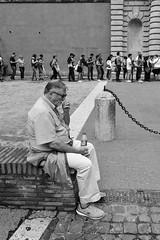 all roads lead to Rome 17/33 (Giorgos Voulgaris) Tags: nikon d5300 digital bw blackwhite monochrome candid man rome street outdoors line people waiting