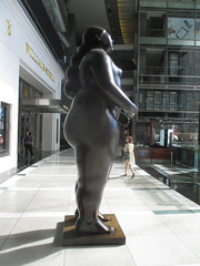 Tall Lady Woman Sculpture by Botero 2018 NYC 3604 (Brechtbug) Tags: woman sculpture by fernando botero colombian artist metal bronze nude female art sculptures front glassed lobby time warner building columbus circle thinker thinking wings nudes architecture statues statue gargoyle gargoyles new york city broadway store shopping center mall heavy zaftig puffy hefty big boned sturdy tall 2018 nyc 06152018 lady portrait
