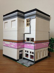 Jo, Jo & Mike's Ice Cream Parlour (craigslegostuff) Tags: lego moc modular building icecream movie apartment alleyway alley mocs mod mods collectible cmf collectibleminifigs buildings street city town road shop business 16 32 16x32 32x16 creator series modularbuilding mini figure fig figs minifgures minifigs figures collectibleminifigures interior exterior floors ice cream icecreams parlour lounge bedroom bathroom kitchen back white pink afol