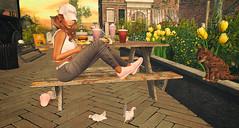 Happy Kitty (♥Kelly Parker♥) Tags: secondlife sl virtual virtualworld 3d avatar secondlifeblog secondlifeblogger secondlifeblogging blog blogger blogging slblog slblogger slblogging virtuallifeblog virtualfashion fashionandbeautyblog fashion beauty style trend stylish truth truthhair group gift vip glam affair glamaffair makeup skin applier lelutka bentohead maitreya meshbody vinyl tank top tetra cargo pants new casual fashionable c88 sneakers air lwbentoposes luanesworld lw lose yourself theliaisoncollaborative newrelease bento pose poses bentoposes jian kitty kitten happy doves dove amsterdam slamsterdam food flowers tulips photography slphotography secondlifelooksgoodtoday