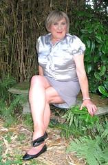 Grybodsilvblo-002 (fionaxxcd) Tags: cd tg ts ladyboy drag femmeboi mtf m2f transvestite tranny trannie crossdresser crossdressing xdresser xdressing tights bust breast blonde pearls redlips rednails thighs