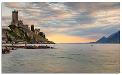 Scaliger Castle, Malcesine (.Wadders) Tags: scaligercastle malcesine lakegarda italy lake water sunset sky