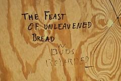The Feast of Unleavened Bread, St. Paul, MN (Robby Virus) Tags: stpaul saint paul mn minnesota feast unleavened bread buds retarded graffiti tag wood construction site fence passover jewish holiday
