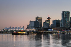 Vancouver skyline (Oleg S .) Tags: bay cityscape vancouver canada water sunset harbor skyline