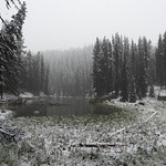 Snow in June - Maligne Lake thumbnail