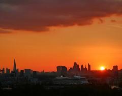 London at Sunset (Waterford_Man) Tags: sunset vikingstar cruiseship thames london sky orange sun