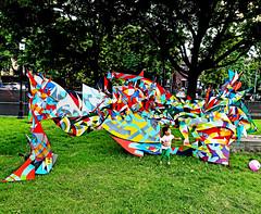 Logan Square, Chicago (kirstiecat) Tags: art sculpture colour color logansquare chicago us america illinois child girl park festival logansquareartfestival moment cinematic trees nature
