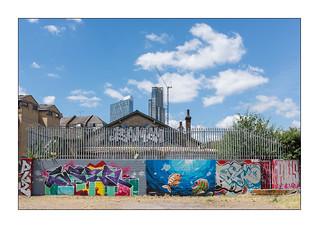 Street Art (Madman:TY & Others), East London, England.
