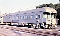 Santa Fe Track Geometry Car at San Bernardino in 1978 9449 (Tangled Bank) Tags: old classic heritage vintage train railroad railway north american equipment santa fe track geometry car san bernardino 1978 9449 passenger official heavyweight business rolling stock