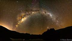 Dam Reflections (rossmberry) Tags: milkyway hawkesbay newzealand stars mars