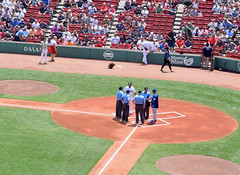 Meeting Before the Game (RockN) Tags: baseball fenwaypark bostonredsox torontobluejays july2018 boston massachusetts newengland
